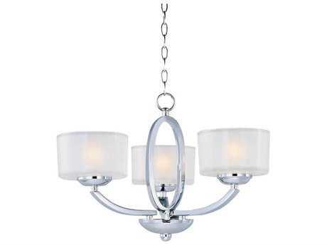 Maxim Lighting Elle Polished Chrome & Frosted Glass Three-Light 17'' Wide Semi-Flush Mount Light MX19041FTPC
