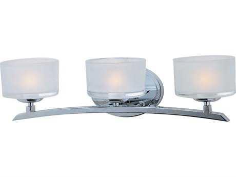 Maxim Lighting Elle Polished Chrome Three-Light Vanity Light