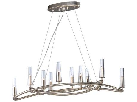 Maxim Lighting Entwine Golden Silver Ten-Light 44'' Wide  Island Light MX38498CLGS