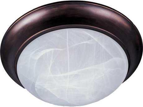 Maxim Lighting Essentials-5850 Oil Rubbed Bronze & Marble Glass Three-Light 16.5'' Wide Flush Mount Light MX5852MROI