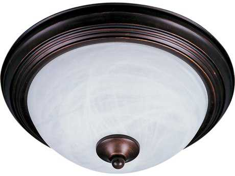 Maxim Lighting Essentials-194x Oil Rubbed Bronze & Marble Glass Outdoor Ceiling Light MX1940MROI