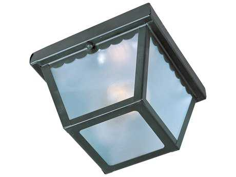Maxim Lighting Essentials-620x Black & Frosted Glass Outdoor Ceiling Light MX6203FTBK
