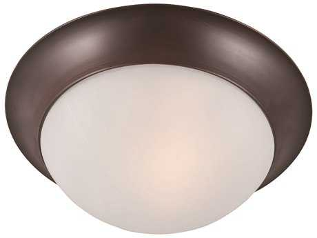Maxim Lighting Essentials-5850 Oil Rubbed Bronze & Frosted Glass 12'' Wide Flush Mount Light