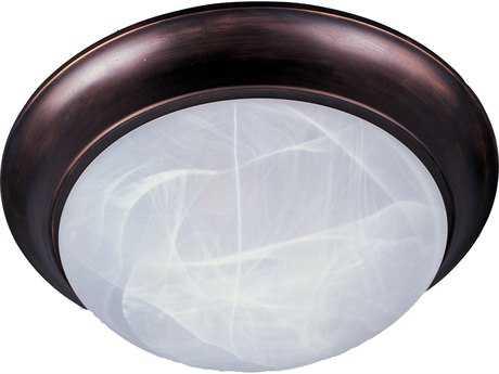 Maxim Lighting Essentials-5850 Oil Rubbed Bronze & Marble Glass 12'' Wide Flush Mount Light MX5850MROI