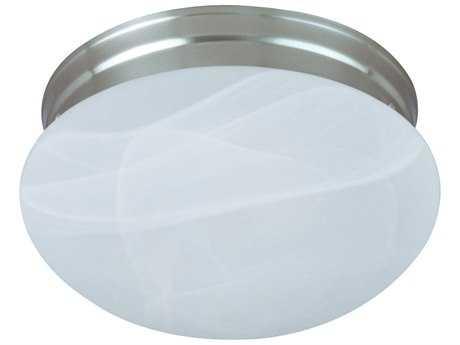 Maxim Lighting Essentials-588x Satin Nickel & Marble Glass Two-Lights 13.5'' Wide Flush Mount Light