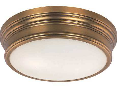 Maxim Lighting Fairmont Natural Aged Brass Two-Light 13'' Wide Flush Mount Light MX22370SWNAB