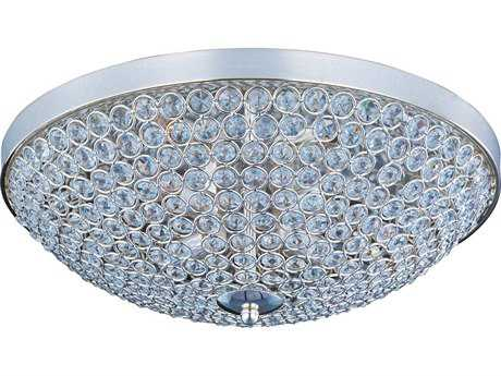 Maxim Lighting Glimmer Plated Silver Four-Light 15'' Wide Flush Mount Light MX39871BCPS