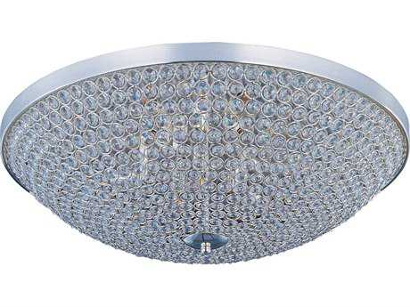 Maxim Lighting Glimmer Plated Silver Six-Light 19'' Wide Flush Mount Light MX39872BCPS