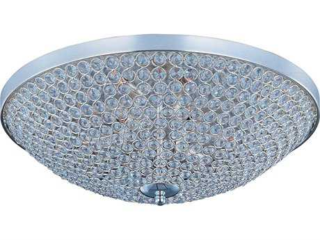 Maxim Lighting Glimmer Plated Silver Nine-Light 22'' Wide Flush Mount Light MX39873BCPS
