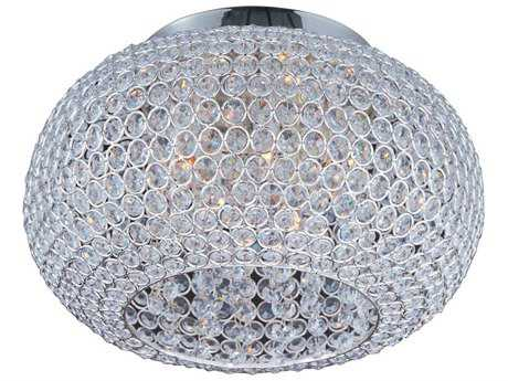 Maxim Lighting Glimmer Plated Silver Five-Light 15'' Wide Flush Mount Light MX39875BCPS