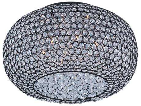 Maxim Lighting Glimmer Bronze Six-Light 18'' Wide Flush Mount Light MX39876BCBZ