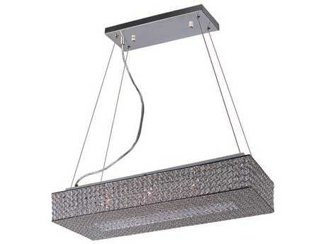 Maxim Lighting Glimmer Plated Silver Ten-Light 31.5'' Long Island Light MX39898BCPS