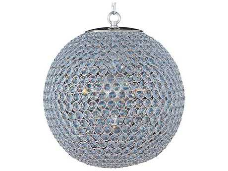 Maxim Lighting Glimmer Plated Silver & Beveled Crystal  Five-Light 16'' Wide Pendant Light MX39886BCPS