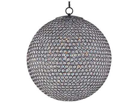 Maxim Lighting Glimmer Bronze & Beveled Crystal  12-Light 24'' Wide Pendant Light MX39887BCBZ