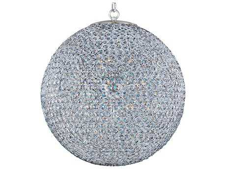Maxim Lighting Glimmer Plated Silver & Beveled Crystal  12-Light 24'' Wide Pendant Light MX39887BCPS