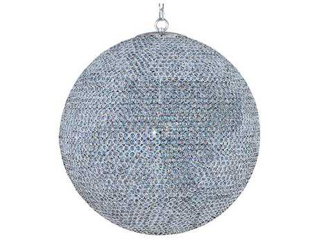 Maxim Lighting Glimmer Plated Silver & Beveled Crystal  18-Light 39.5'' Wide Pendant Light MX39888BCPS