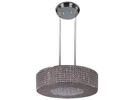 Maxim Lighting Glimmer Plated Silver & Beveled Crystal  16-Light 27.5'' Wide  Pendant Light MX39897BCPS