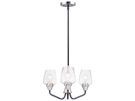 Maxim Lighting Goblet Black / Satin Nickel Three-Light 19'' Wide  Mini-Chandelier