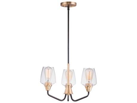 Maxim Lighting Goblet Bronze / Antique Brass Three-Light 19'' Wide  Mini-Chandelier
