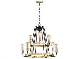 Haven Oil Rubbed Bronze / Antique Brass Nine-Light 27'' Wide  Chandelier