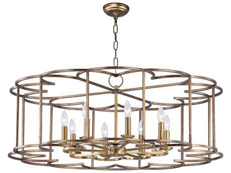 Maxim Lighting Helix Bronze Fusion Eight-Light 38'' Wide Chandelier MX24734BZF