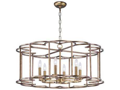 Maxim Lighting Helix Bronze Fusion Six-Light 32'' Wide Chandelier MX24735BZF