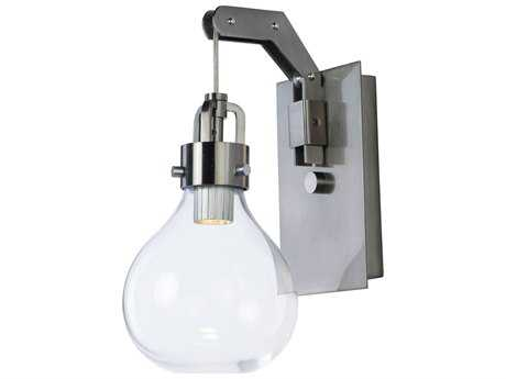 Maxim Lighting Kinetic Dark Satin Nickel with Clear Glass LED Wall Sconce MX39692CLDSN