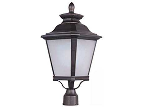 Maxim Lighting Knoxville Bronze & Frosted Seedy Glass 11'' Wide LED Outdoor Post Light MX51121FSBZ