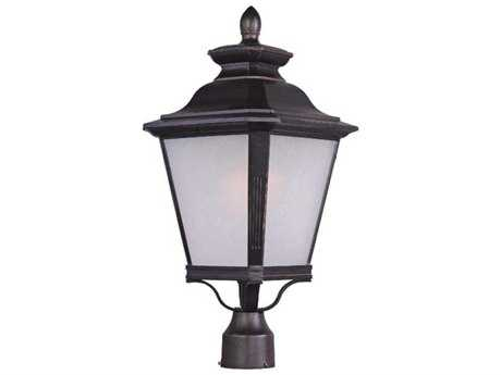 Maxim Lighting Knoxville Bronze & Frosted Seedy Glass 11'' Wide Incandescent Outdoor Post Light