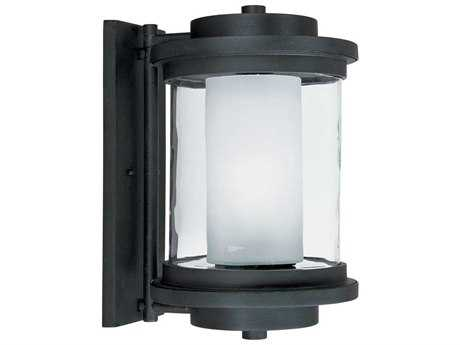 Maxim Lighting Lighthouse Anthracite & Clear-Frosted Glass 10'' Wide Fluorescent Outdoor Wall Light