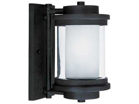 Maxim Lighting Lighthouse Anthracite 7 Clear-Frosted Glass 6'' Wide Incandescent Outdoor Wall Light MX5862CLFTAR
