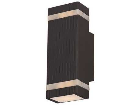 Maxim Lighting Lightray LED Architectural Bronze Two-Light Outdoor Wall Light MX86129ABZ