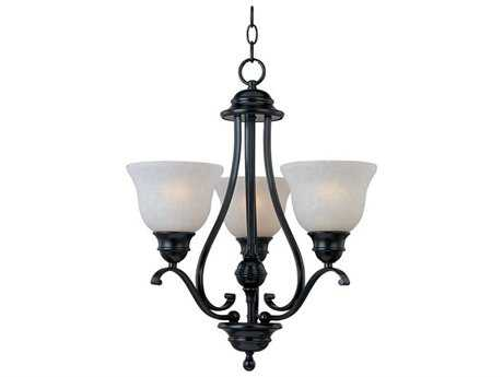 Maxim Lighting Linda Black Three-Light 19 Wide Chandelier MX11804ICBK