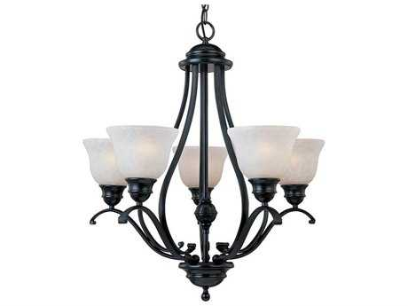 Maxim Lighting Linda Black Five-Light 26 Wide Chandelier MX11805ICBK