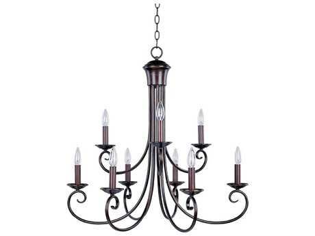 Maxim Lighting Loft Oil Rubbed Bronze Nine-Light 29.5 Wide Chandelier MX70006OI