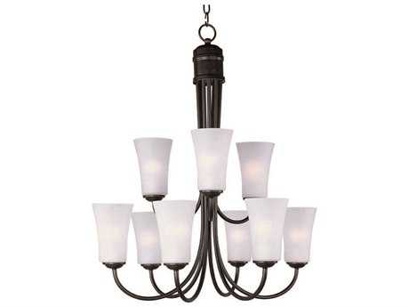 Maxim Lighting Logan Oil Rubbed Bronze Nine-Light 28.5 Wide Chandelier