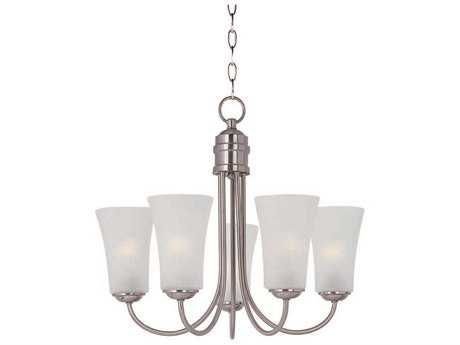 Maxim Lighting Logan Satin Nickel Five-Light 20 Wide Mini-Chandelier