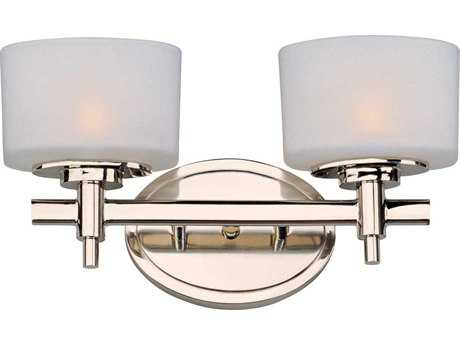 Maxim Lighting Lola Polished Nickel Two-Light Vanity Light MX9022SWPN