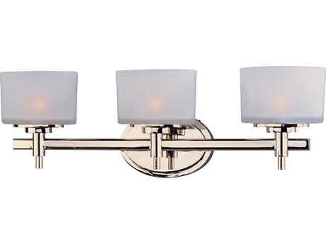 Maxim Lighting Lola Polished Nickel Three-Light Vanity Light MX9023SWPN