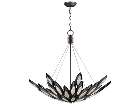 Maxim Lighting Lotus Burnished Bronze 12-Light 37'' Wide  Pendant Light