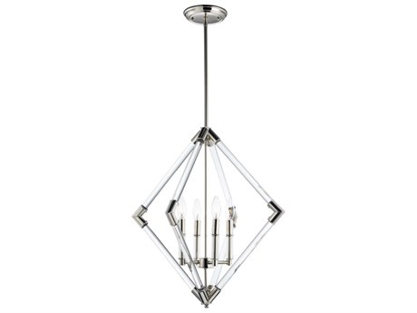 Maxim Lighting Lucent Polished Nickel Four-Light 24'' Wide  Chandelier MX16104CLPN