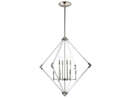 Maxim Lighting Lucent Polished Nickel Eight-Light 36'' Wide  Chandelier MX16106CLPN