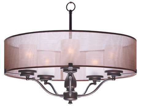 Maxim Lighting Lucid Oil Rubbed Bronze Five-Light 26'' Wide Chandelier MX24555TSOI