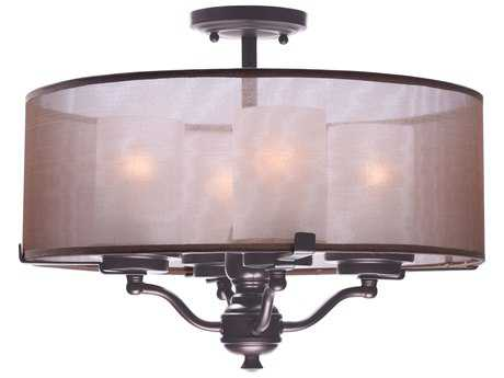 Maxim Lighting Lucid Oil Rubbed Bronze Four-Light 18'' Wide Semi Flush Mount Light MX24550TSOI