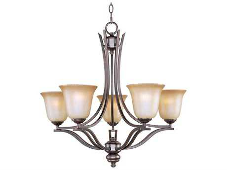 Maxim Lighting Madera Oil Rubbed Bronze Five-Light 26 Wide Chandelier MX10175WSOI