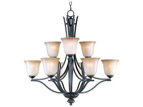 Maxim Lighting Madera Oil Rubbed Bronze Nine-Light 32 Wide Chandelier MX10177WSOI
