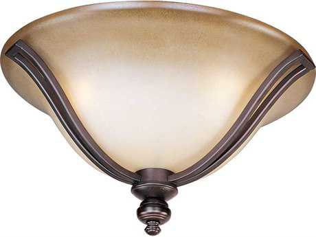 Maxim Lighting Madera Oil Rubbed Bronze & Wilshire Glass Three-Light 16'' Wide Flush Mount Light MX10169WSOI