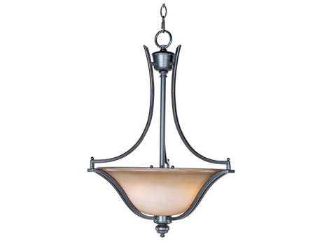 Maxim Lighting Madera Oil Rubbed Bronze & Wilshire Glass Three-Light 19.5'' Wide Invert Bowl Pendant Light MX10173WSOI