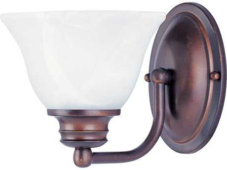 Maxim Lighting Malaga Oil Rubbed Bronze & Marble Glass Wall Sconce MX2686MROI
