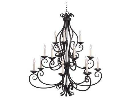 Maxim Lighting Manor Oil Rubbed Bronze 15-Light 45 Wide Chandelier MX12219OI